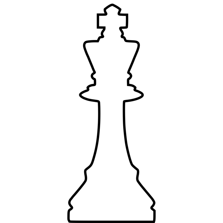 Drawing chess. Piece queen king staunton
