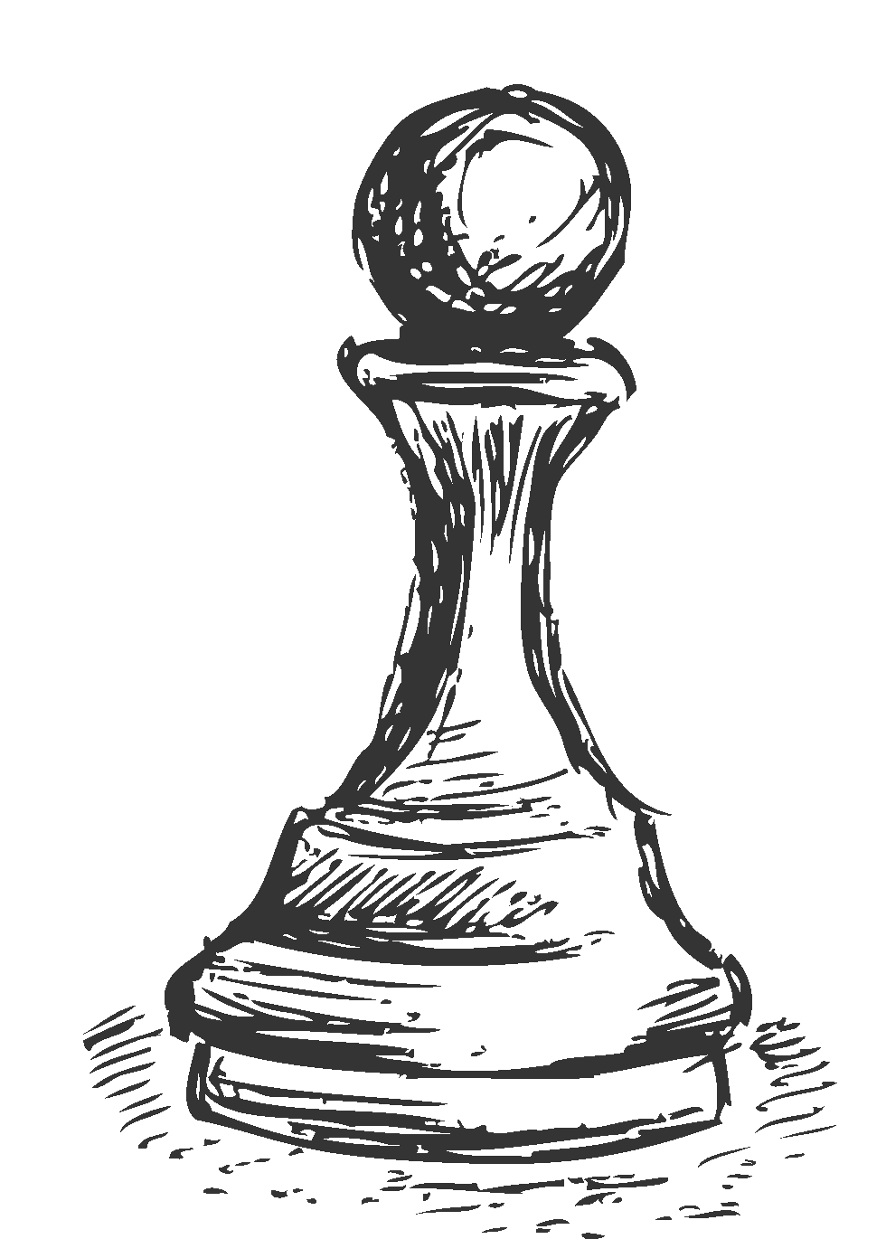 Drawing chess. Sketch pawn transprent png