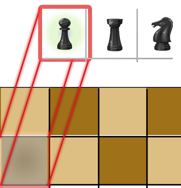 Checkered drawing chess board. Html canvas geek s