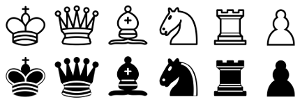 Drawing chess pieces. Wearable conquering android wear