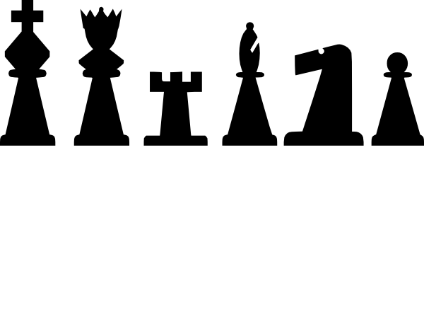 Drawing chess pieces. Set clip art at