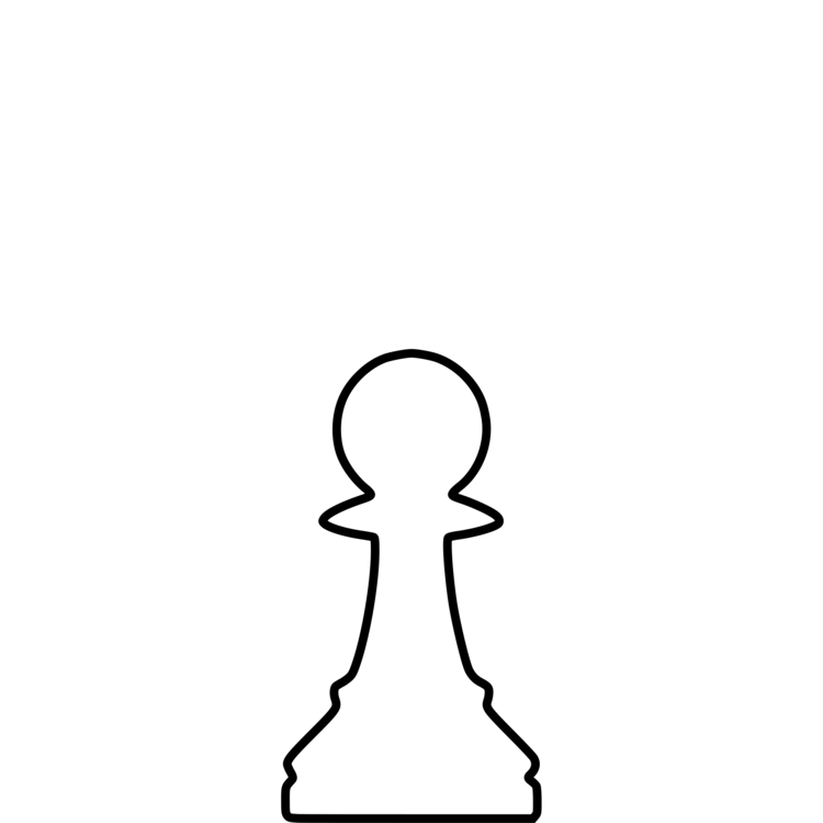 Drawing chess rook. Queen playing piece clipart