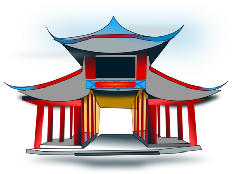Drawing chinese architectural. Japanese language architecture free