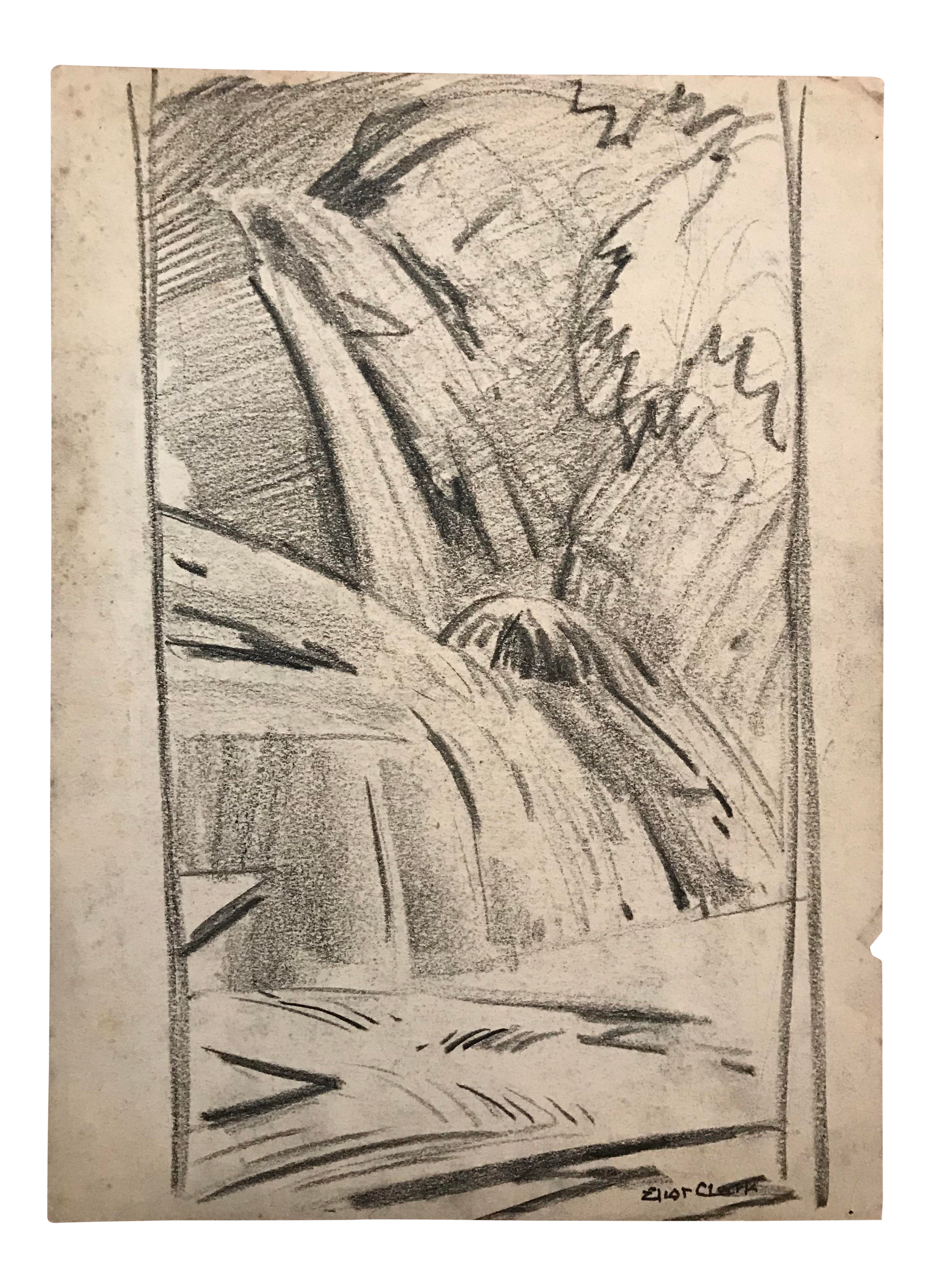 Waterfalls drawing pencil. S vintage eliot