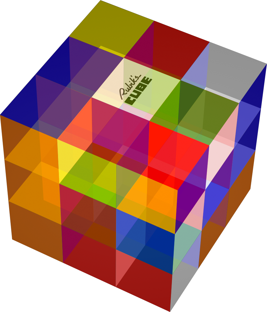 Drawing chrome cube. Lab a gallery of