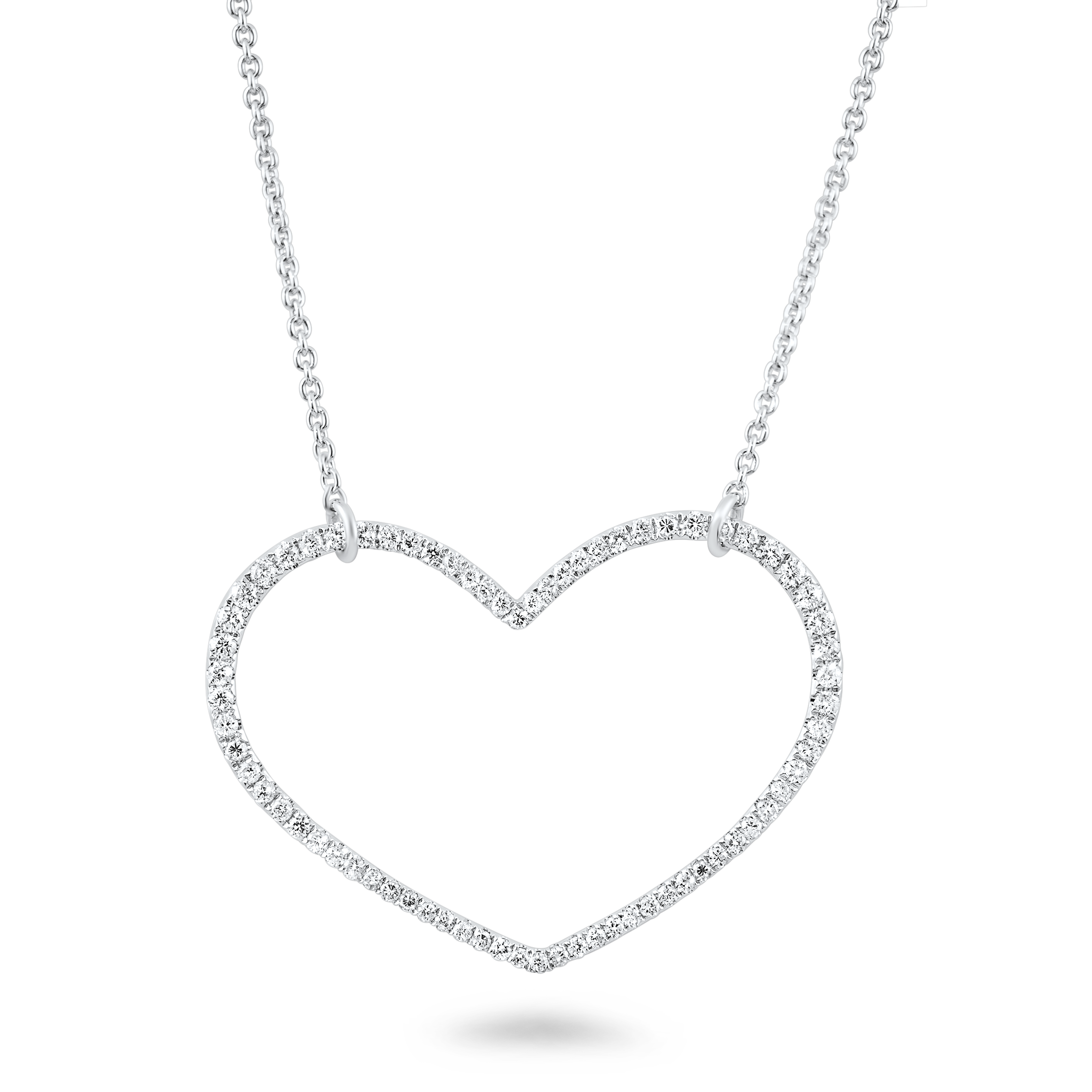 Drawing chrome heart pendant. Shaped diamond at getdrawings