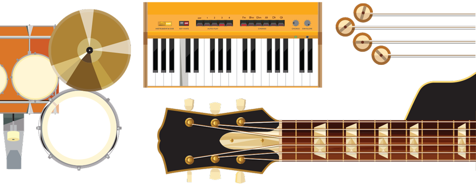 Drawing chrome instrument. Case study jam with
