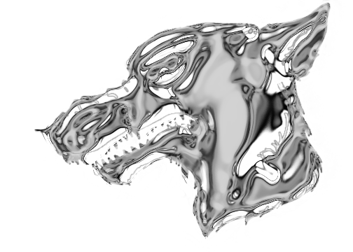 Drawing chrome nice. Wolf head by twitchy