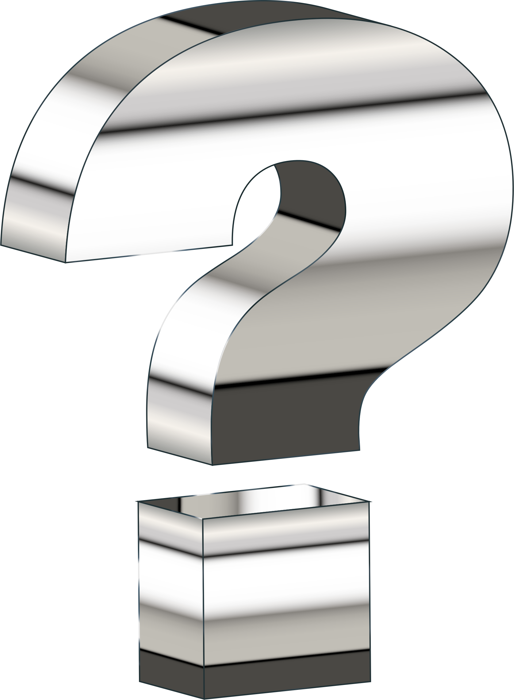 D question mark icons. Reflective drawing chrome png library stock