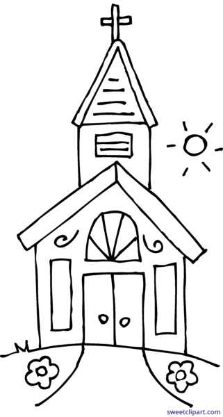Drawing church. Encode clipart to base