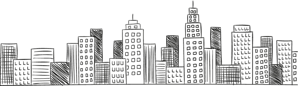 Drawing cityscape. Dbstructural professional personal engineering