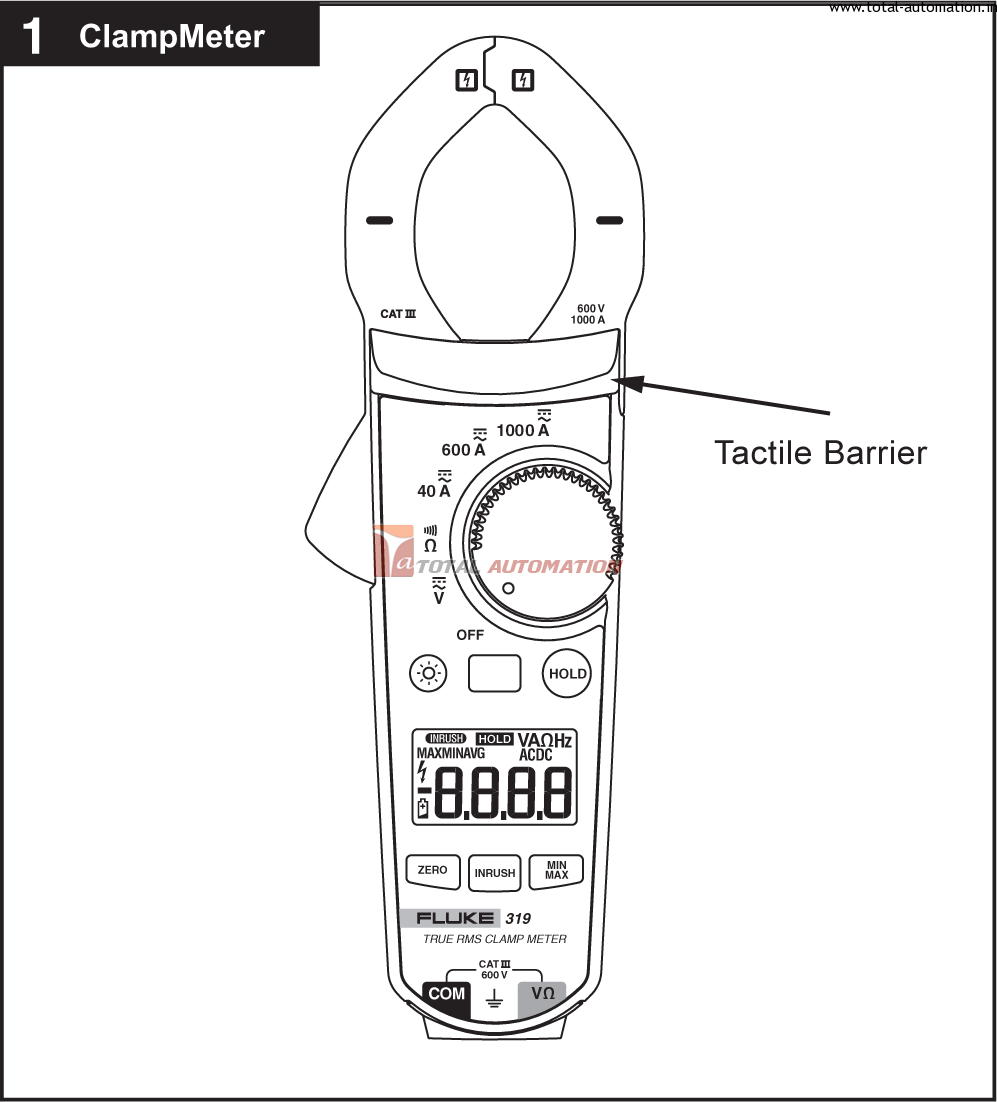 drawing clamp meter