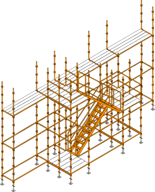 Drawing clamps scaffolding. M stage mstage access