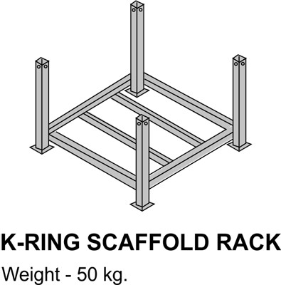 Drawing clamps scaffolding. M ring access polyurethane