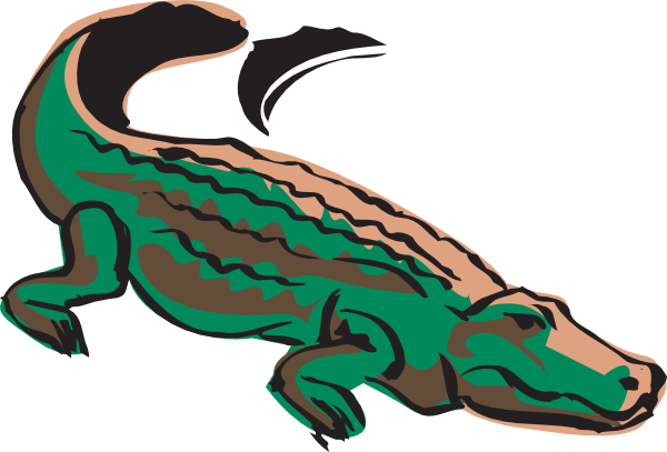 Transparent alligator colored. Crocodile clip art at
