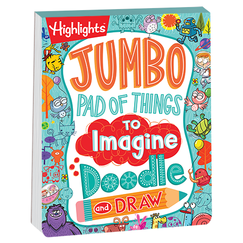 Jumbo pad of things. Drawing creativity doodle graphic royalty free library