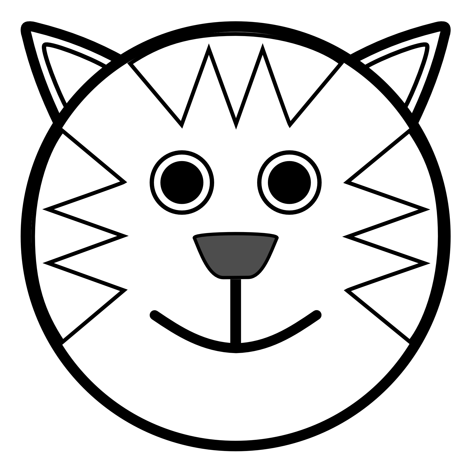 Drawing clip simple. Clipart animal line art