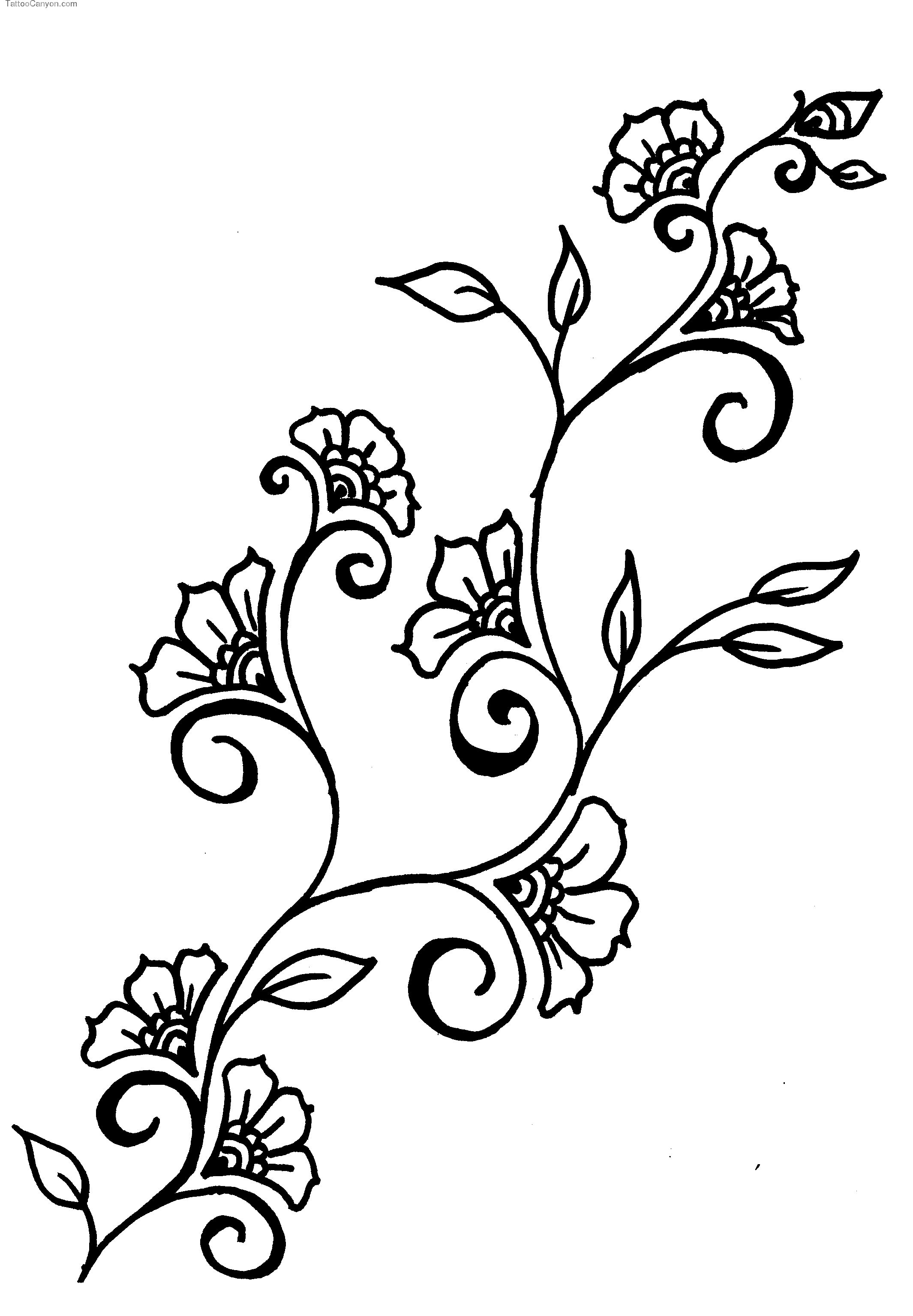 Drawing clipart craft. Vines flowers design drawings