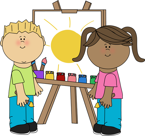 Drawing clipart craft. Kids crafts and arts