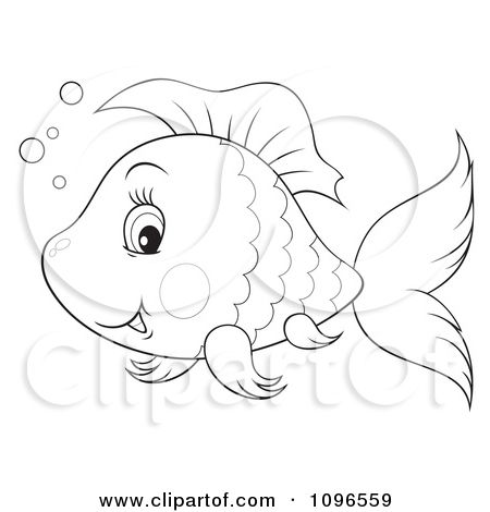 Drawing clipart fish. Silly happy black and