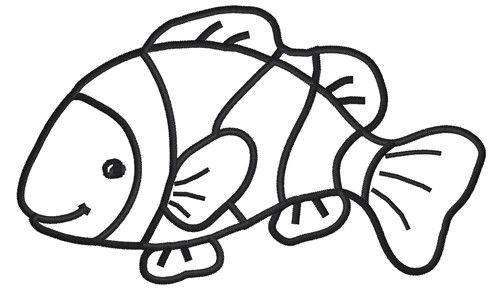 Outline of at getdrawings. Drawing clipart fish clip free