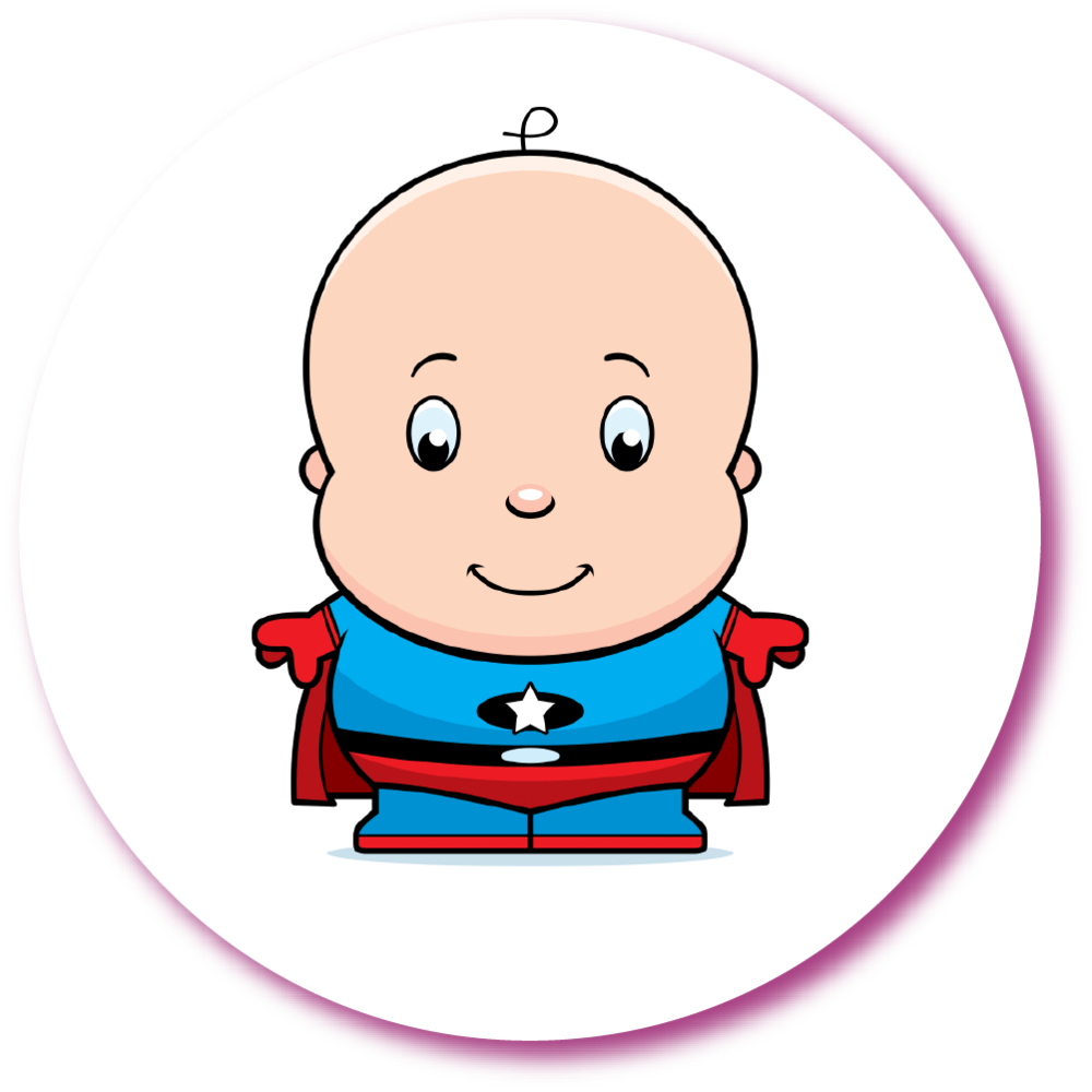 Super baby society step. Drawing clipart healthy child banner freeuse stock