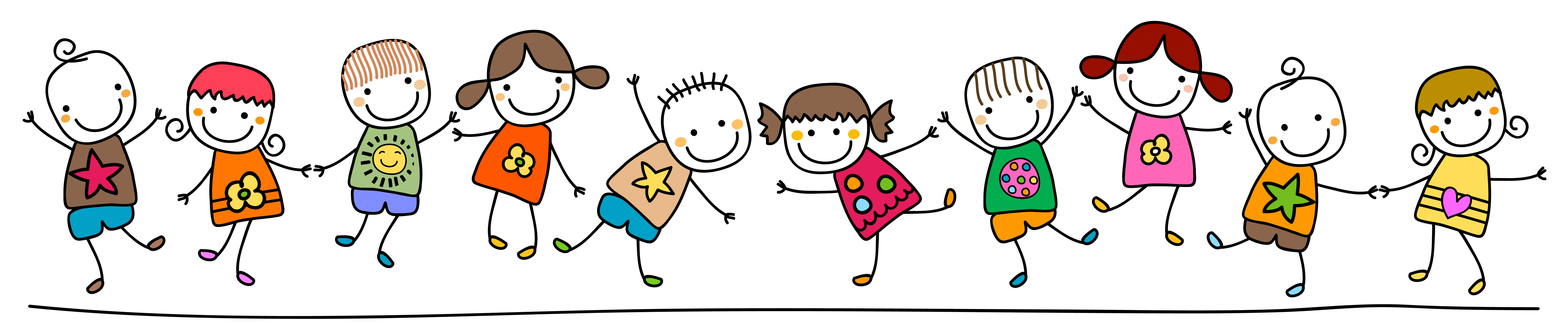 Drawing clipart healthy child. Kids playing at getdrawings