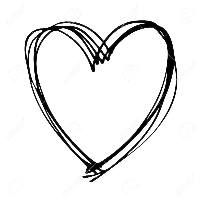 Drawing clipart heart. Hand at getdrawings com