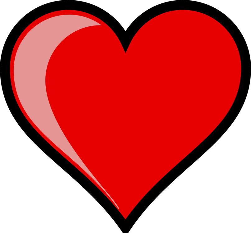 Drawing clipart heart. Download line art free