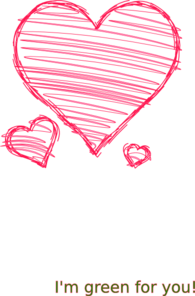 Drawing clipart heart. Hand drawn clip art