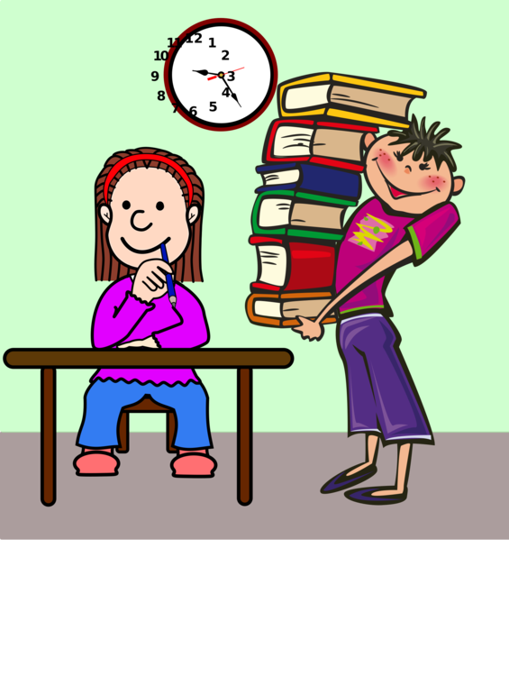 Drawing clipart student. Book reading child girl