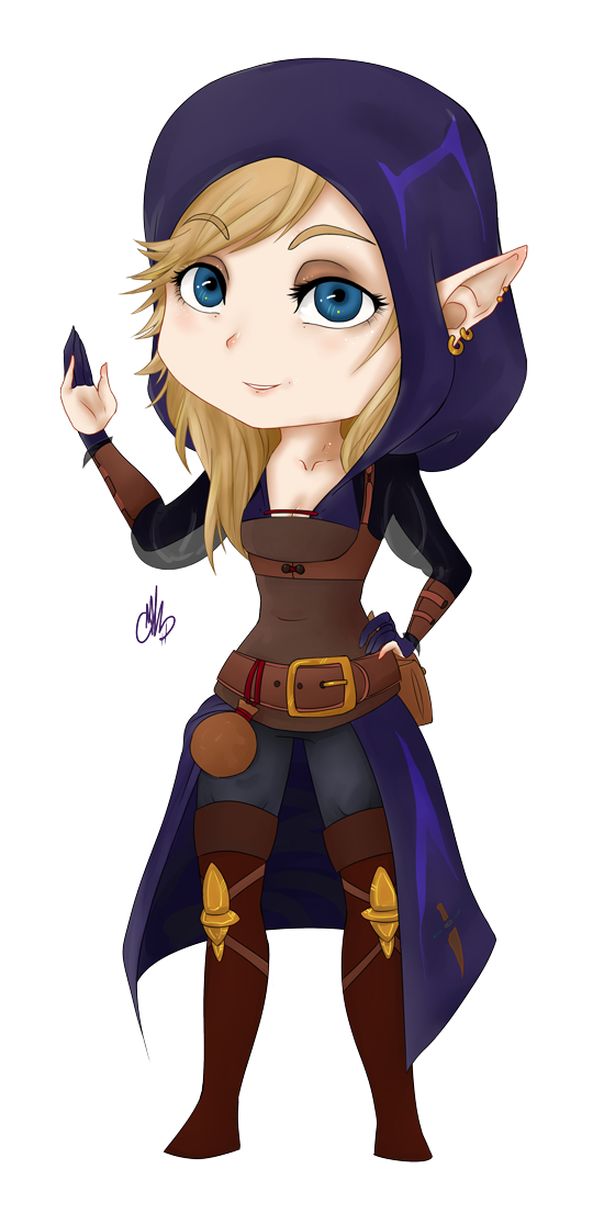Drawing cloaks chibi. Thief by wammys on
