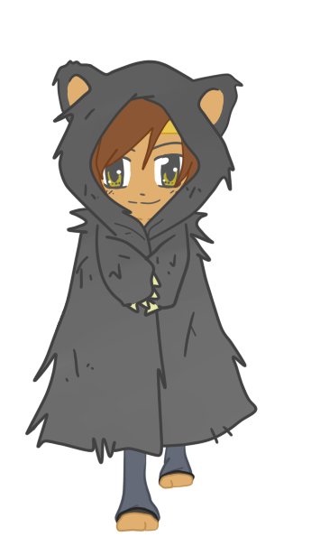 Drawing cloaks chibi. Jamie wolf cloak by