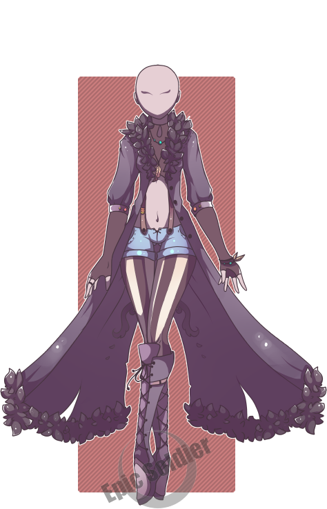 Drawing cloaks fantasy fashion. Custom outfit commission by