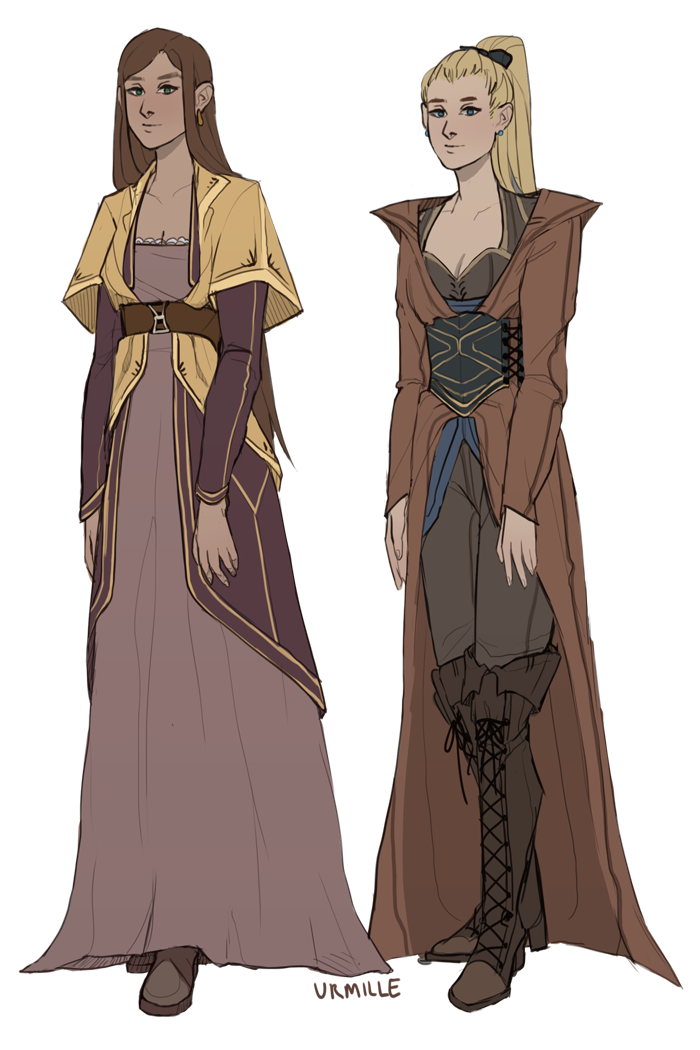 Drawing cloaks fantasy fashion. Let me draw some