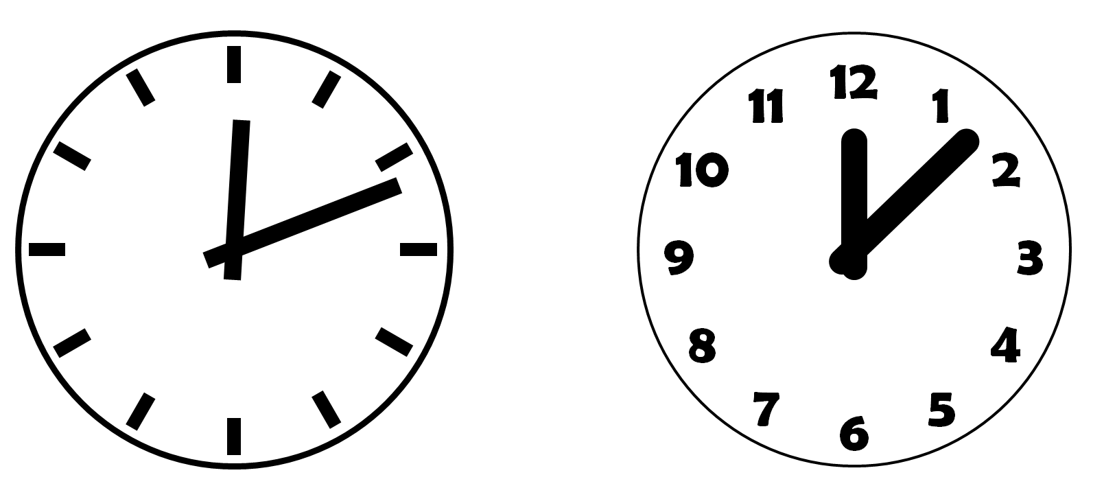 Drawing clocks. In powerpoint clock icons