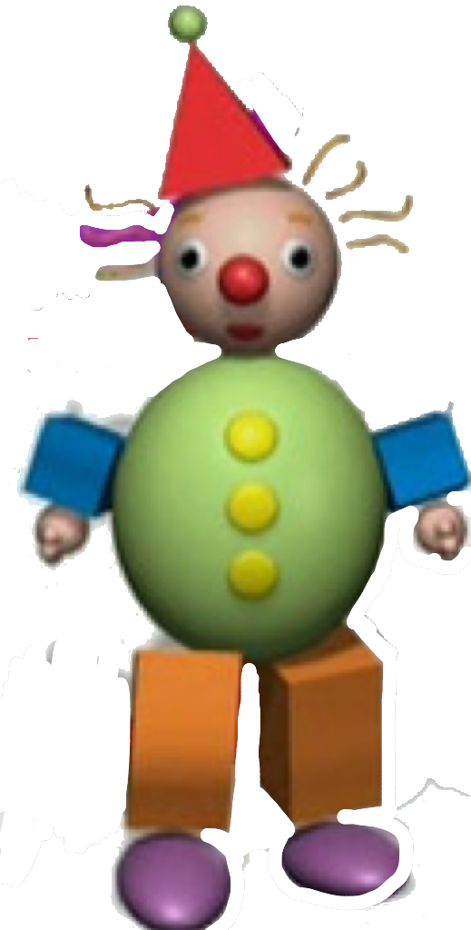 Drawing clowns baby. Manager the shape clown