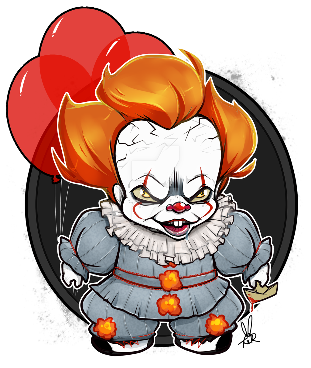 Drawing clowns chibi. Collection of free pennywise