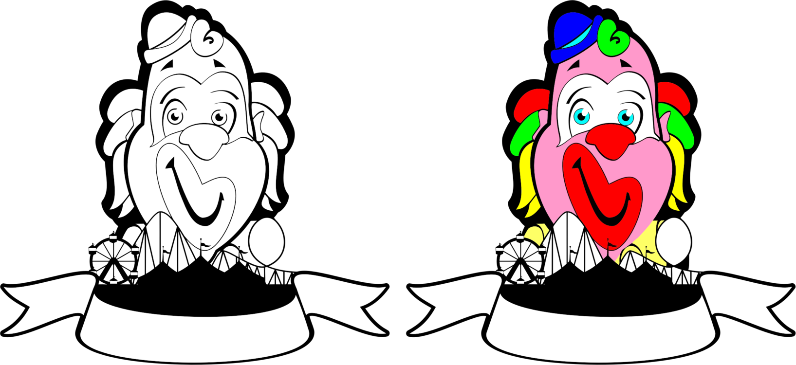 Drawing clowns circus. Clown humour download free