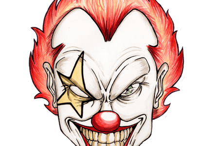 Drawing clowns easy. Simple clown face k