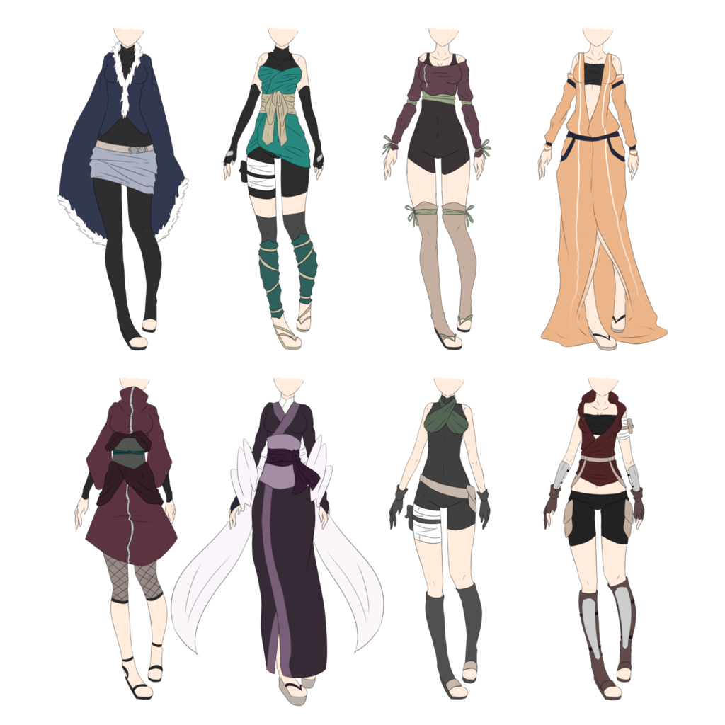 Costume drawing design. Naruto outfit adoptables closed