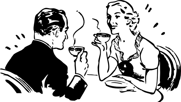 Drawing coffee black and white. Collection of free conversationed