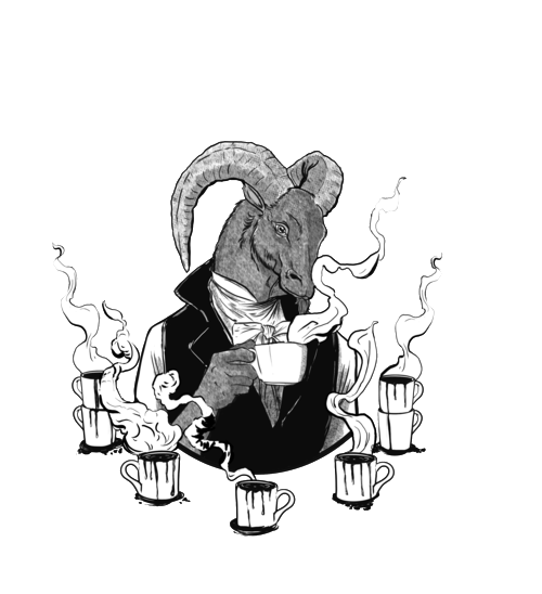 Drawing coffee cold. Black phillip house blend