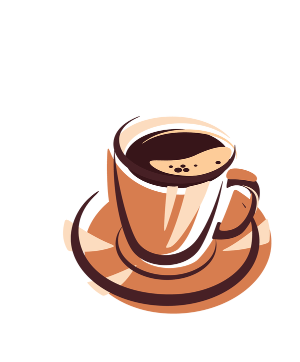 Drawing coffee smoke. Step by how to