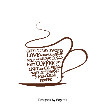 Drawing coffee smoke. Png vectors psd and