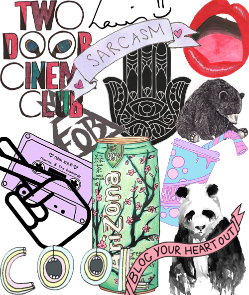 drawing collages tumblr