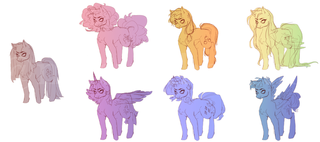 Drawing movies collage. Mlp mini redesign by