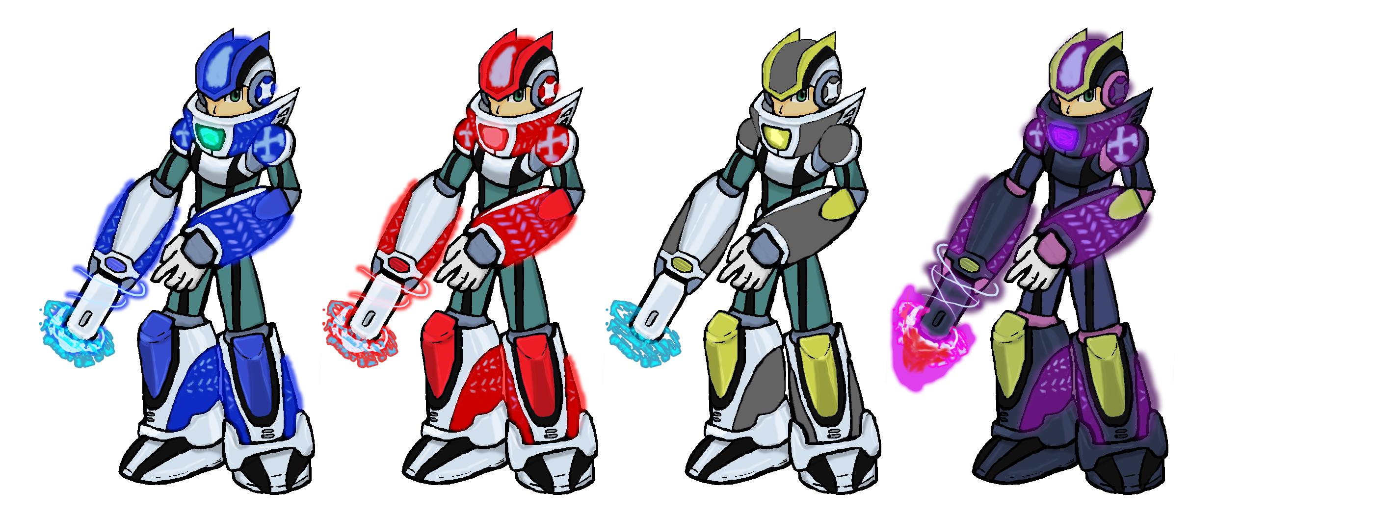 Drawing collages fan art. Megaman x armor th