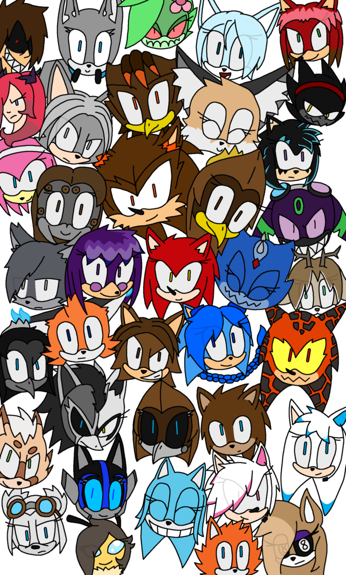 Drawing collages random thing. Character collage by xophpsycho