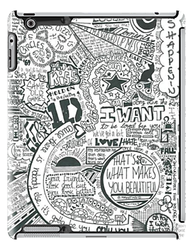 Drawing collages song one direction. Iphone cases lyrics ipad